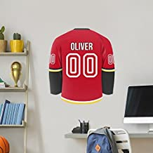 Personalized Hockey Jersey Wall Decal Label (Calgary)