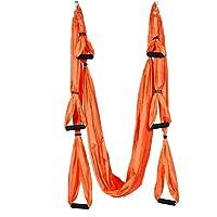 Pawaca aérienne Yoga balançoire, Ultra solide Yoga Hamac avec Parachute Tissu et poignées Trapeze d'antenne, kit, grande d'inversion, Air Fly Sling, hamac de/Trapeze pour une utilisation en intérieur et en extérieur avec la santé