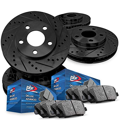 For 1987-1990 Acura Legend PBR AXXIS Drill/Slot Brake Rotors+Ceramic Brake Pads