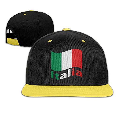 Qiop Nee Kids Hip Hop Baseball Caps and Hats Boys Girl Italian Flag with Letter ()