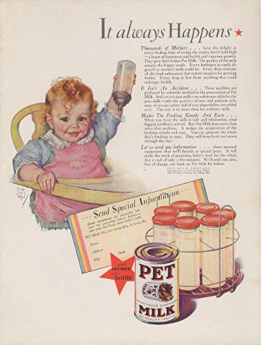 It always happens Pet Evaporated Milk ad 1929 Maud Tousey Fangel from The Jumping Frog