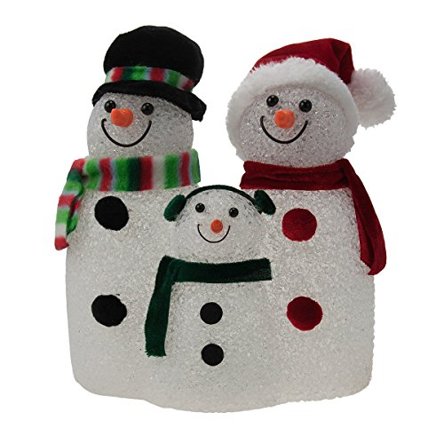Holiday Lights Snowman (Illuminated Snow Family Snowman Color Changing Christmas Holiday Decor Light)