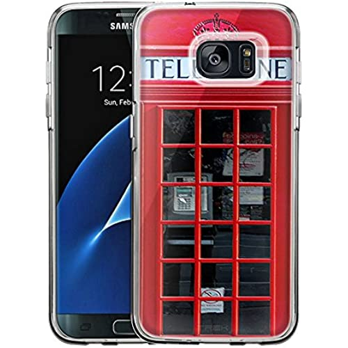Samsung Galaxy S7 Edge Case, Snap On Cover by Trek Red British Phone Booth One Piece Trans Case Sales