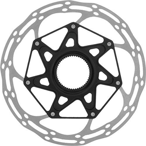 SRAM Centerline X Rounded Rotor - Centerlock Silver/Black, -
