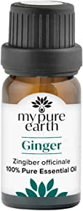 Ginger Essential Oil, 100% Pure, Sustainably Sourced, Organically Crafted, Aromatherapy, My Pure Earth, 10ml,MPE-Ginger