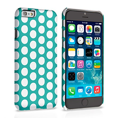 Caseflex iPhone 6 Plus / 6S Plus Hülle Grün Blau Tupfen Hart Schutzhülle (Kompatibel Mit iPhone 6 Plus / 6S Plus - 5.5 Zoll)