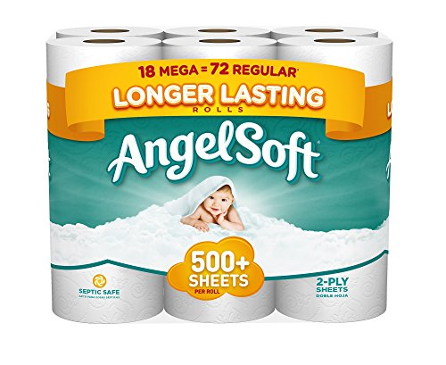 Angel Soft Toilet Paper, 18 Mega Rolls, Bath Tissue