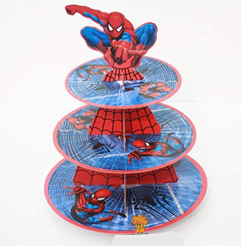 Astra Gourmet Super Hero Cardboard Cupcake Stand Dessert Tower, Spiderman -