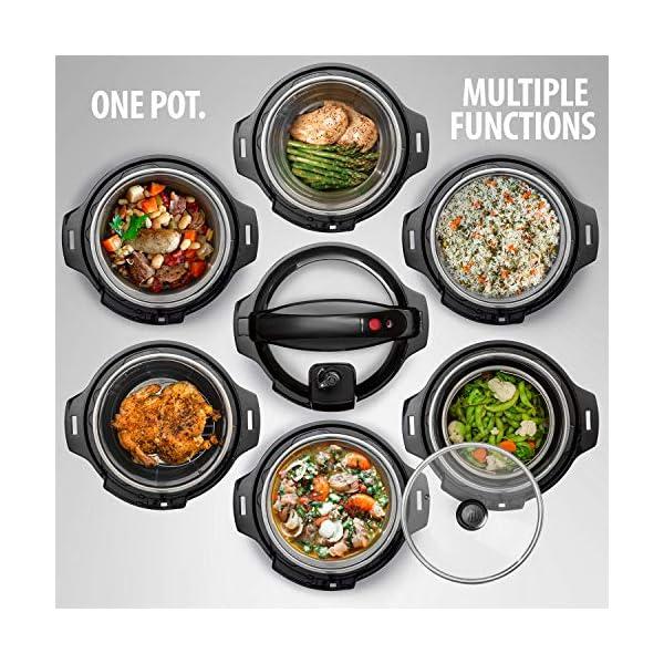 Deco Chef 8 QT 10-in-1 Pressure Cooker Instant Rice, Saute, Slow Cook, Yogurt, Meats, Deserts, Soups, Stews Includes… 2