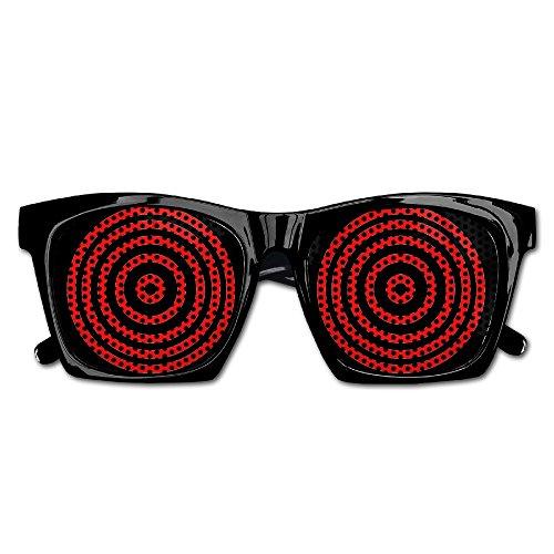 Red Spiral Mens/Womens Resin Sunglasses - Classic Full Frame - Resin Spiral