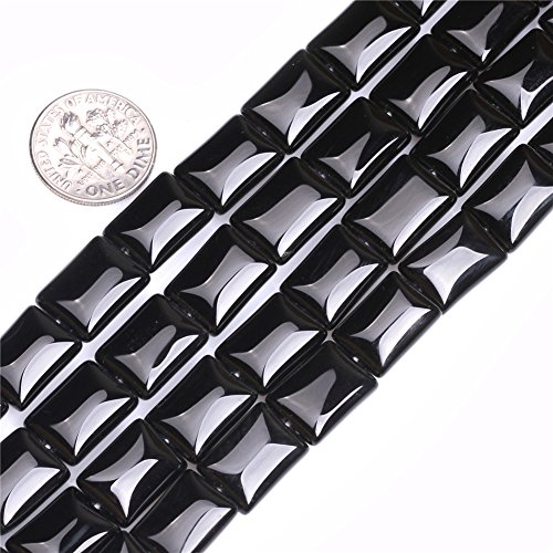 12mm Coin Gemstone Black Agate Beads Strand 15 Inches Jewelry Making Beads