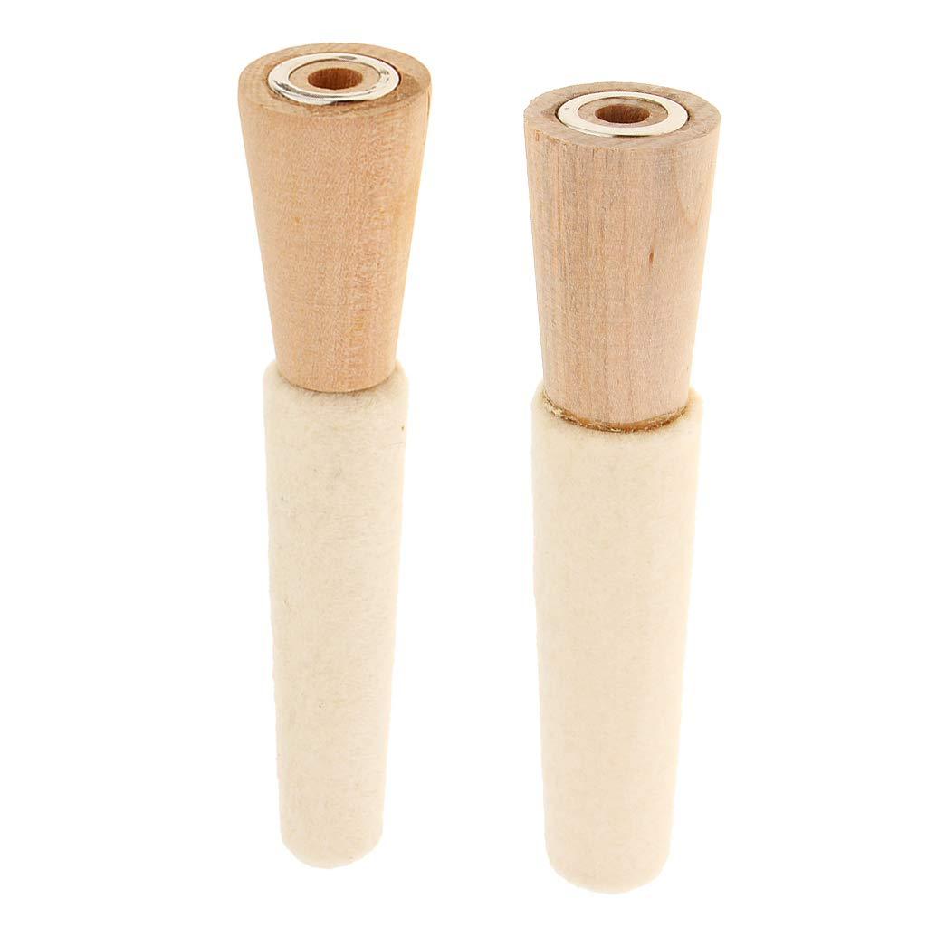 2 St/ü Filz Innenseite Ringe Schmuckherstellung Polieren Runde Holzdorn Shaping Stick Tool