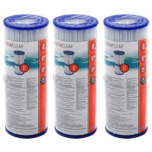 🥇 6 piezas Bestway – Cartuchos de filtro para bombas de piscina Intex Bestway tamaño 2 –