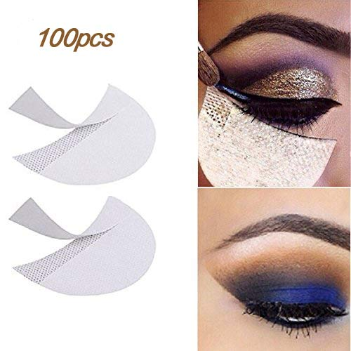LKE 100pcs Eyeshadow stencils Professional Lint Free Under Eye Eyeshadow Gel Pad Patches For Eyelash Extensions/Lip ()