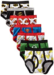 Handcraft Little Boys\'  Justice League Logo Brief (Pack of 7), Assorted, 4T