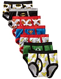 DC Comics Little Boys' Justice League Logo Brief (Pack of 7) Ropa Interior para Niños
