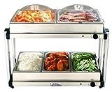 BroilKing MLB-25P Professional Multi-Level Buffet Server w/Stainless Base & Plastic Lids