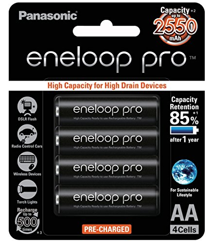 Panasonic BK 3HCCA4BA Eneloop Pre Charged Rechargeable product image