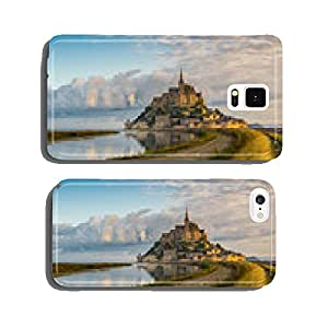 Panoramic view at morning Mont Saint-Michel cell phone cover case Samsung S5