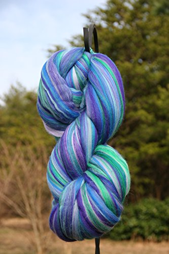 Shep's Sea Glass Merino Wool Top Roving Fiber Spinning, Felting Crafts USA (8lb) by Shep's Wool
