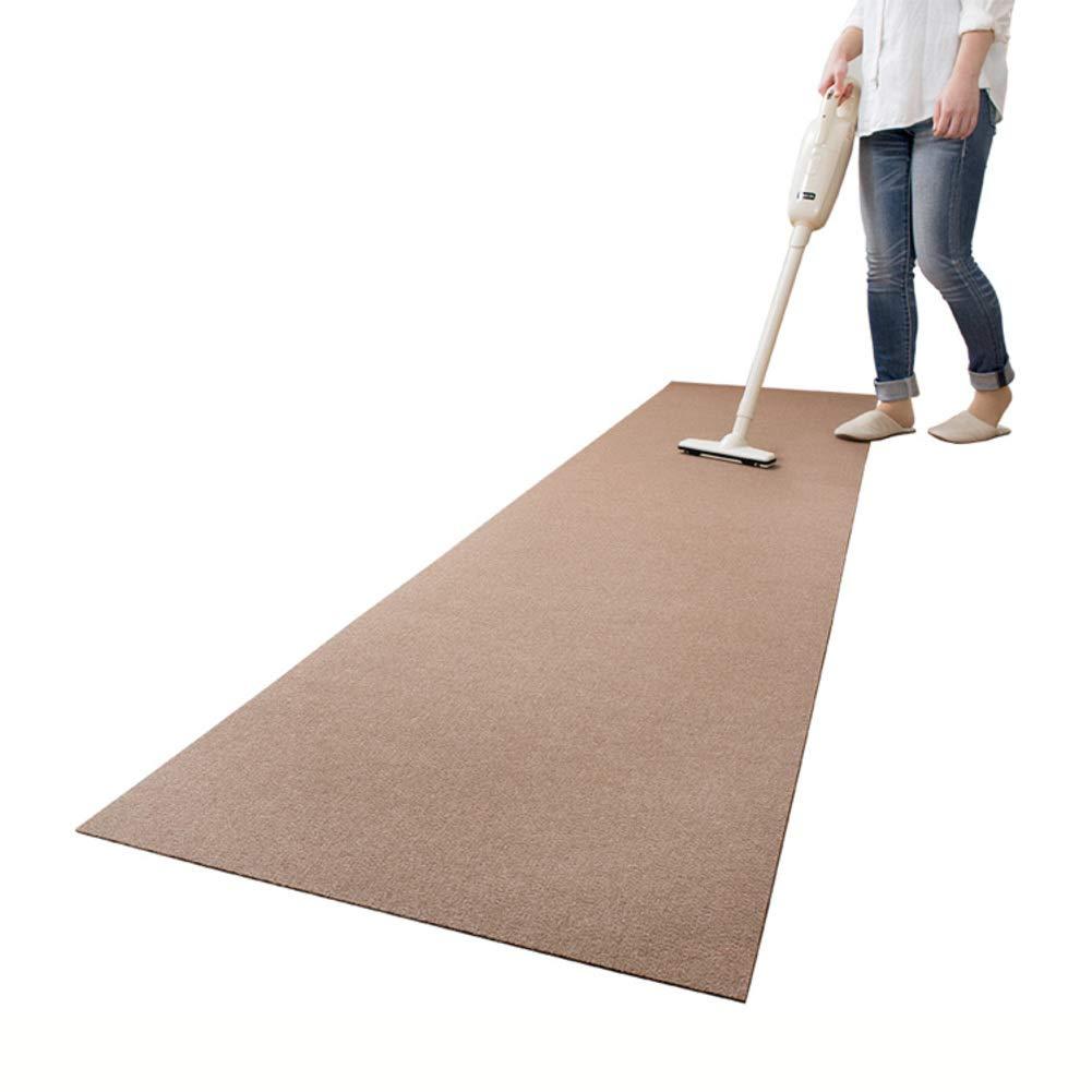 Kitchen Rugs Non-Skid Washable, Waterproof Mats Doormat Kitchen Mat Runner Carpet Baby Crawling Mat-Brown 60x240cm(24x94inch)