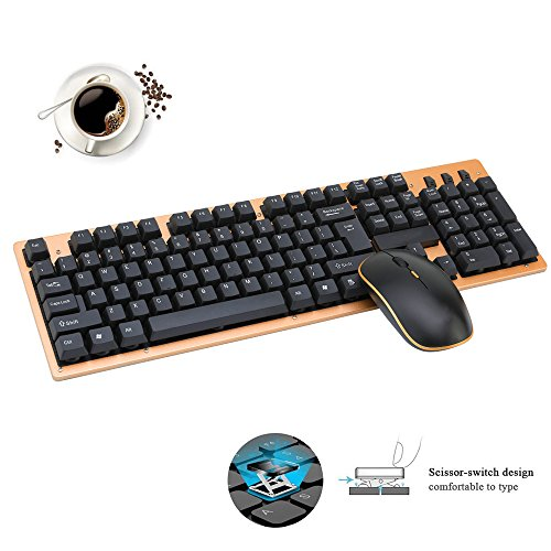 free shipping Wireless Keyboard and Mouse Combo,Attoe 2 4G Gaming