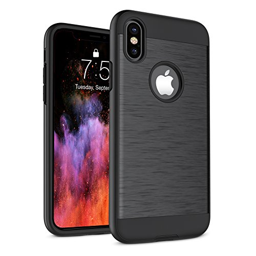 iPhone X Case, A-Maker Shockproof Full Protective Anti-Scratch Resistant of Heavy Duty Dual Layer Rugged Case for Apple iPhone X (iPhone X)