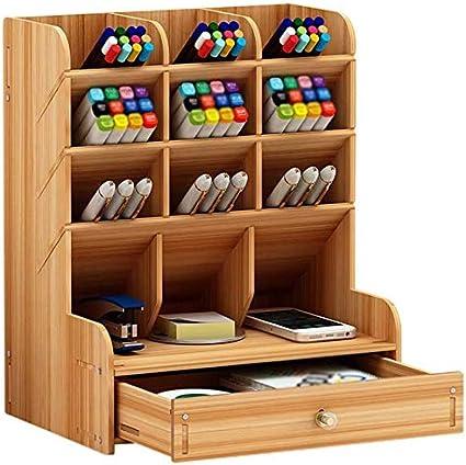 telefoni cellulari e telecomandi matite Tonsmile per penne Organizer da scrivania in legno