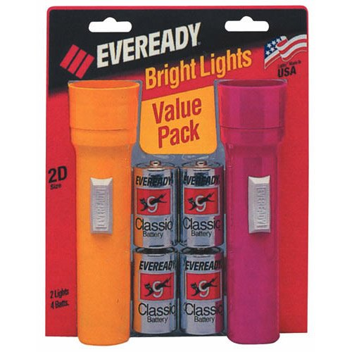 Eveready R Flashlight Twin Pack