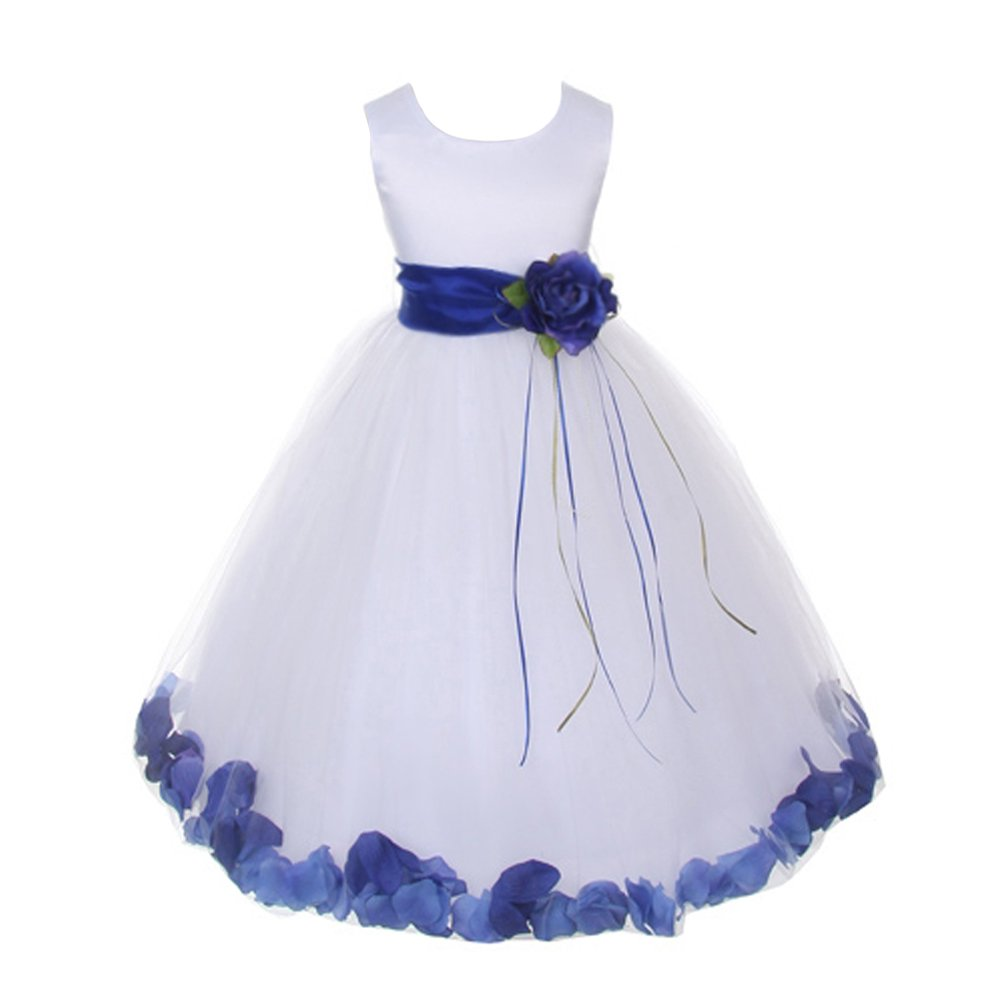 843a7324 Royal Blue Petal Flower Girl Dress - raveitsafe