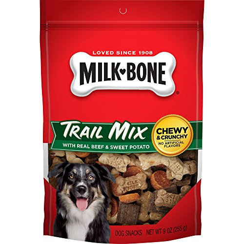 Wow Bow Bones (Milk-Bone Trail Mix With Real Beef & Sweet Potato Dog Treats, 9-Ounce (Pack Of 3))
