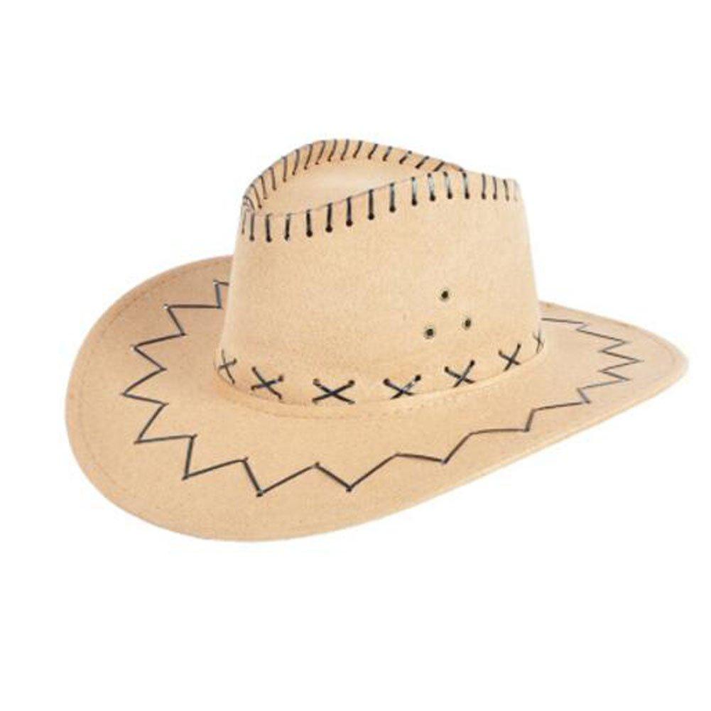 Black Temptation Niños Sombrero de Vaquero niños Traje Sombreros Sombrero de Fiesta-Caqui