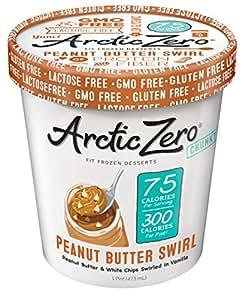 Arctic Zero Fit Frozen Desserts, Peanut Butter Swirl, 16 Ounce (Pack of 6)