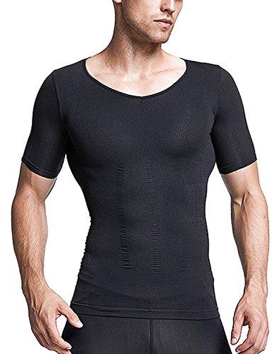 数字遊具弾薬Burvogue 男性 コンプレッションウェア お腹引き締め スポーツウェア 筋肉tシャツ コンプレッションインナー 補正下着