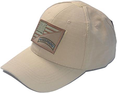 Pavementof Militar Táctico De Caza Cap la Bandera Americana Mil-Tec – Gorra de béisbol Gorro con Camuflaje táctico Patch, Khaki+1: Amazon.es: Deportes y aire libre