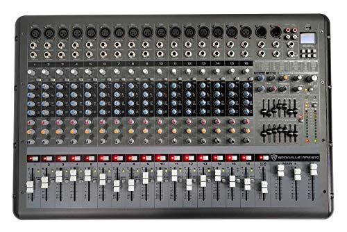 Rockville RPM1870 18-Channel 6000w Powered Mixer, USB, Effects For Church/School