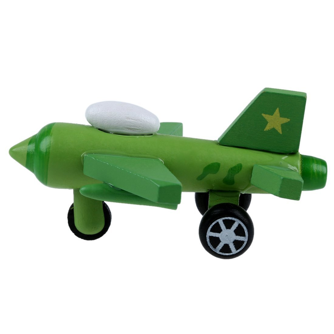 SODIAL R Set of 12 Wooden Airplane Model Educational Toys