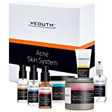 YEOUTH Acne Kit 7 Pack -Pimple,Blackhead,Whitehead,Vitamin C Facial Cleanser,Balancing Toner for Face,Vitamin C & E Serum,Retinol 2.5% Serum,Day Night Snail Cream,Salicylic Acid Peel,Dead Sea Mud Mask For Sale