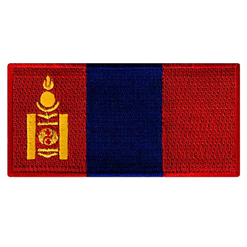 - Mongolia Flag Embroidered Patch Mongolian Iron-On National Emblem Asia