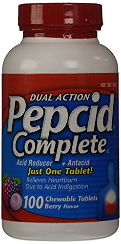 Pepcid Complete Acid Reducer & Antacid Chewable Tablets Berry Flavor ValueSize 3Pack (300 CounT Total ) Nk$l:eBV by Pepcid