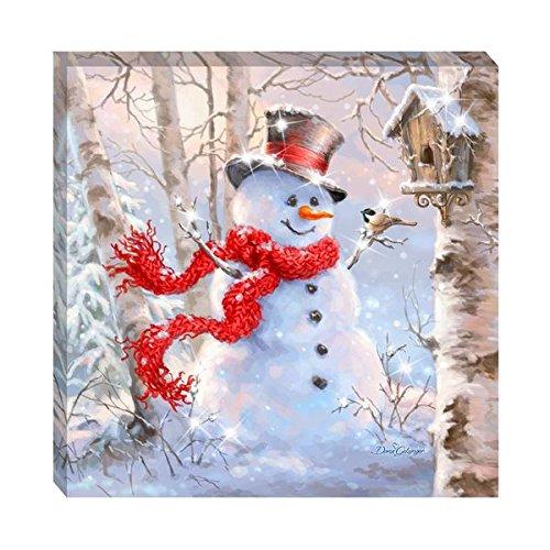 Pizazz Prints with Genuine Swarovski Crystals (Birch Forest Snowman)