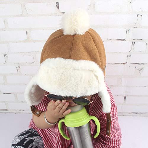 Warm Bomber Hats for Kids Thicken Cotton Fur Balaclava Cap Winter Earflap Russian Mask Trapper Hat