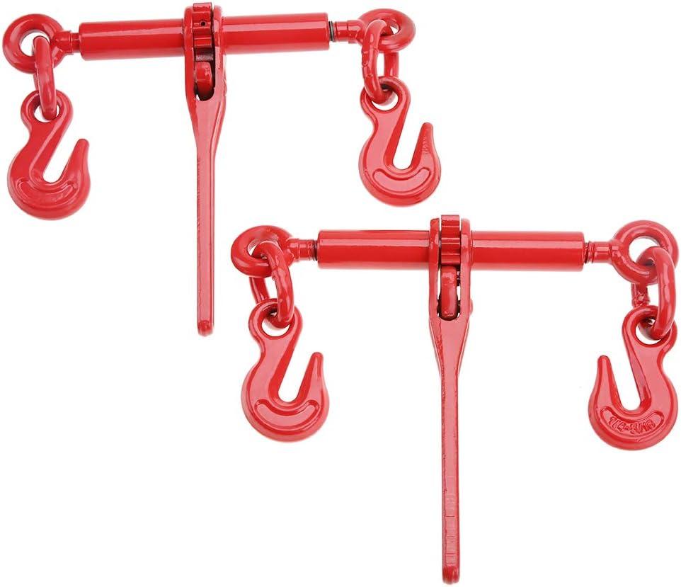 Cocoarm Zurrkette Ratschenspanner 2pcs 5 16 3 8 Hebel Kette Binder Kette Haken Binden Rigging Ausrüstung 1 4 5 16 Baumarkt
