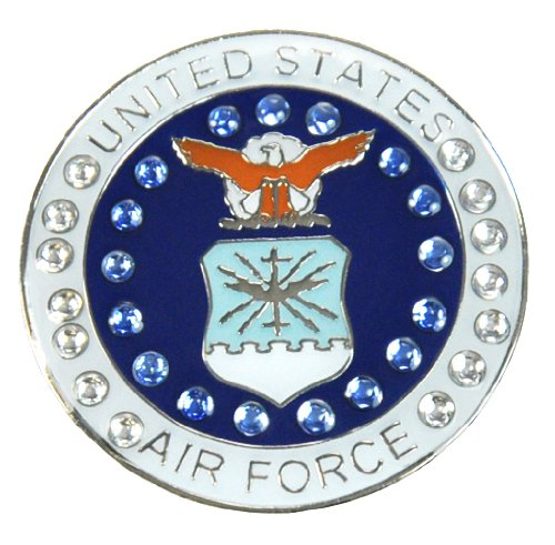 United States Air Force Swarovski Crystal Ball Marker with Hat ()