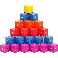 Balacoo 30Pcs Magnetische Blokken Houten Magnetische Blokjes Innovatieve Magnetische Bouwstenen Kids Autisme Speelgoed…