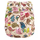 "Kawaii Baby Good Night Heavy Wetter One Size Cloth Diaper with 2 Microfiber Inserts ""Baby Chick"""