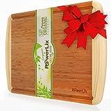 PowerLix Best Organic Bamboo Cutting Board