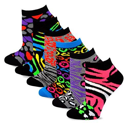 TeeHee-Womens-Fashion-No-Show-Fun-Socks-12-Pairs-Packs