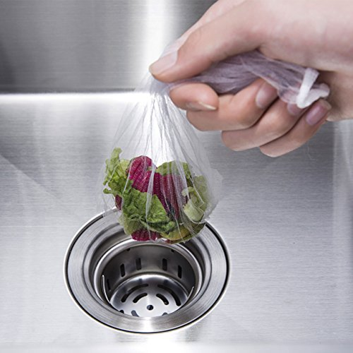 Sink Strainer Bags, Sumpus Disposable Mesh Sink Sewer Filter Tiny Garbage Rubbish Bag for Kitchen & Bathroom Prevent Clogging(50pcs) by Larnn