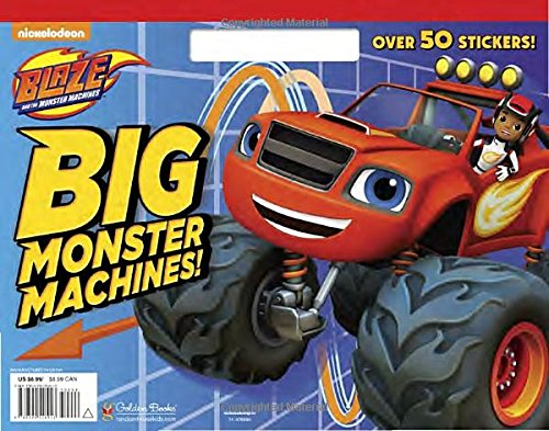 Big Monster Machines! (Blaze and the Monster Machines) (Big Coloring Book)